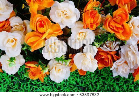 Colorful Plastic Flowers
