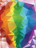 Abstract rainbow geometric background with triangular polygons. poster