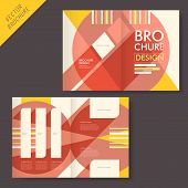 vector geometry brochure design with flat projection poster