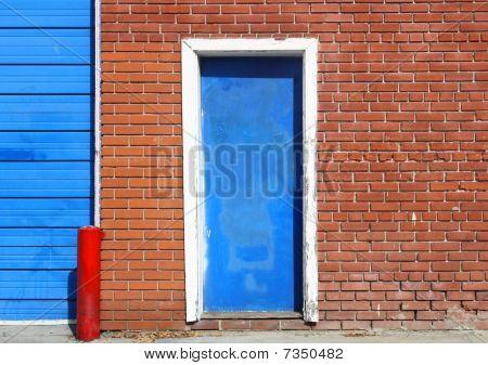 Urban Door on Bricks