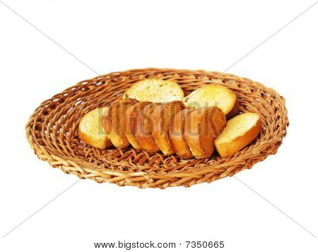 Crackers on a plate for bread