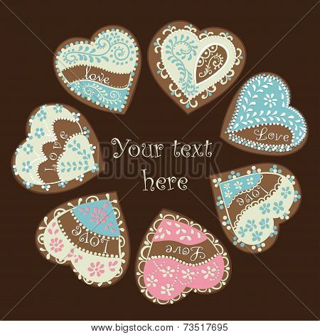 Vector heart for Valentine's Day design.