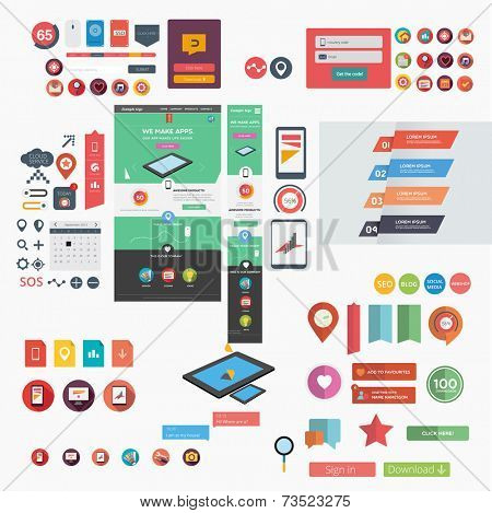 Responsive web template + web graphics