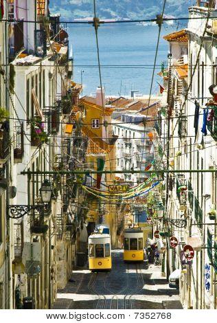 Elevador Da Bica, Lisbon, Portugal.