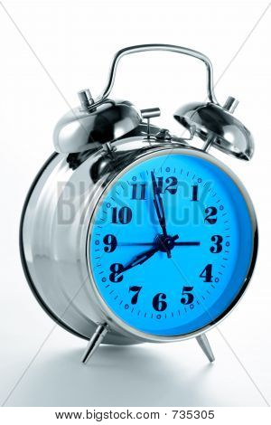 Alarm clock in counter illumination poster