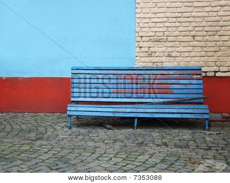 Old Bench On The Street
