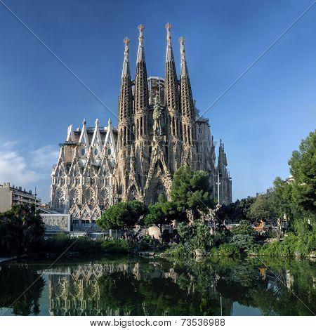 Barcelona, Spain - October 8: La Sagrada Familia Cathedral