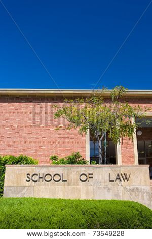 Ucla School Of Law On The Campus Of Ucla.
