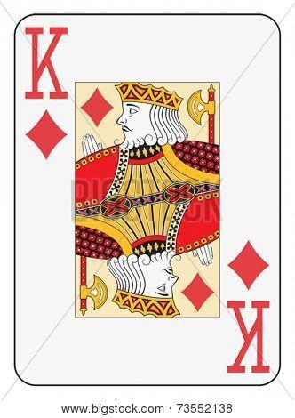 Jumbo index king of diamonds playing card