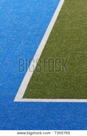 Astroturf Sports Feld Ecke