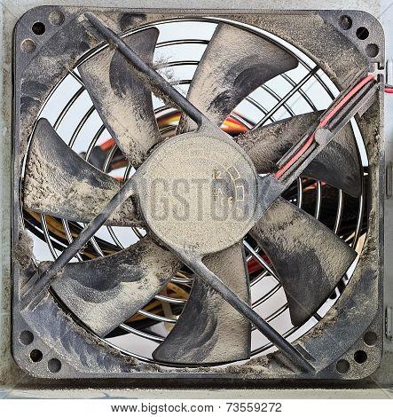 Dusty Ventilator Fan, Closeup