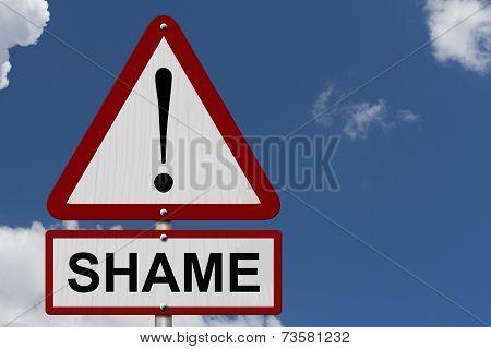 Shame Caution Sign
