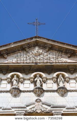 Architectural Detail Of An Old Colonial Church (vii)