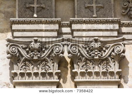 Architectural Detail Of An Old Colonial Church (viii)
