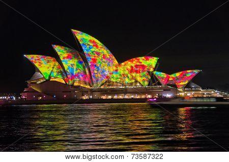 SYDNEY, NSW/AUSTRALIA - JUNE 08: Vivid Sydney festival on June 08, 2014 in Sydney.