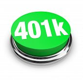 A green button with the word 401k on it poster