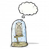 cartoon stuffed owl in jar poster