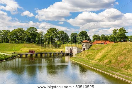 Canal around Kastellet a fortress in Copenhagen poster