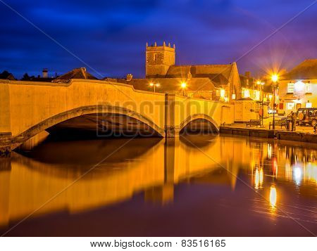 Wareham Quay At Night Dorset