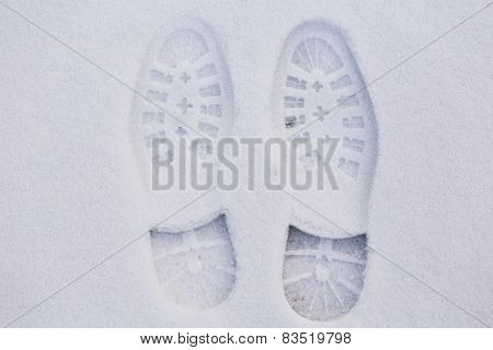Footprint In Snow