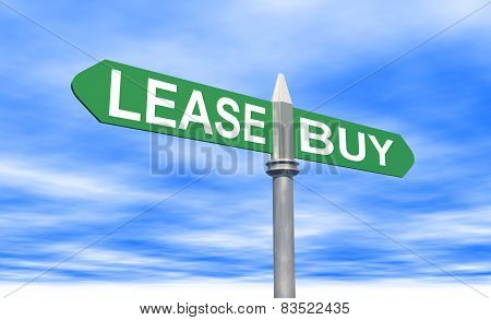Lease Or Buy Sign