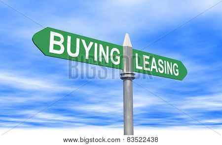 Buying Or Leasing Sign