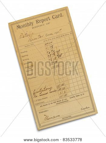 Antique Report Card