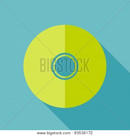 Modern flat design concept icon. CD or DVD computer disk diskett