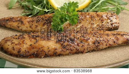 Cooked Mackerel Seasoned With Peppercorns