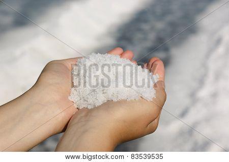 Pile Of Freshly Harvested Salt