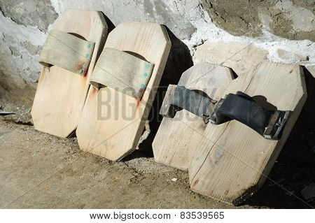 Traditional Wooden Shoes Of Salterns