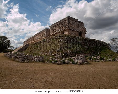 The Palace Of The Ruler In The Ancient Mayan City Uxmal