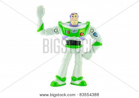 Buzz Lightyear Robot Toy Character Form Toy Story Animation Film.
