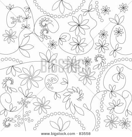 Floral Pattern - Non Colored