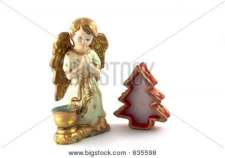 angel and candle
