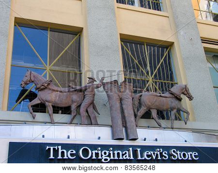San Diego, California, Us - March 11, 2007: Detail Of The Levi Strauss The Original Levis Store Shop