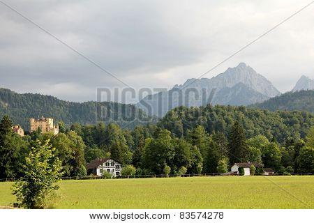 Mountain landscape with Hohenschwangau Castle