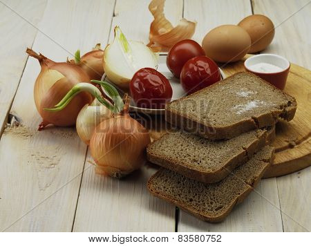 Onion And Bread