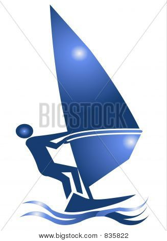Windsurf Symbol Icon