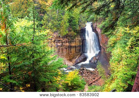 Miners Falls at Pictured Rocks in Michigan