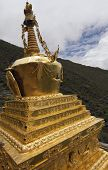 Ancient symbols of Buddhism are found everywhere in Tibet poster