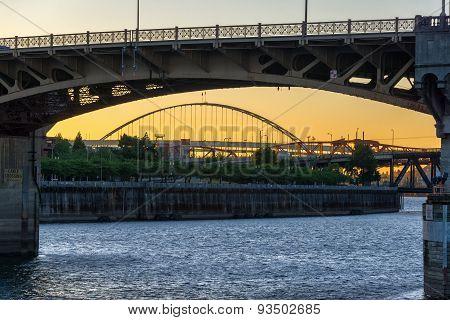 Burnside Bridge Sunset