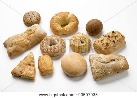 Group of rustic breads