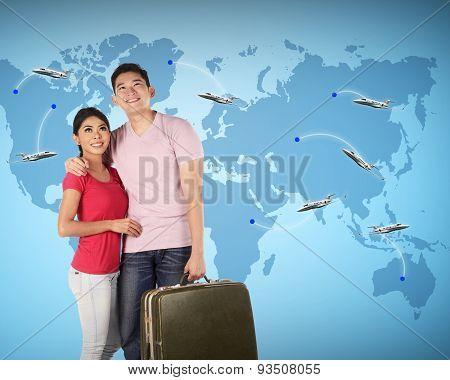 Couple Travel Around The World
