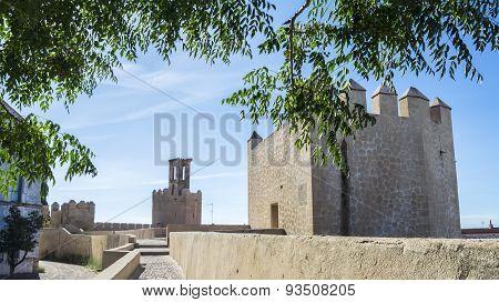 Battlements, Pathways And Towers Of Badajoz Muslim Wall, Spain