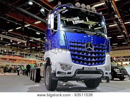 Mercedes Benz Arocs 3663 Finland Edition On Display