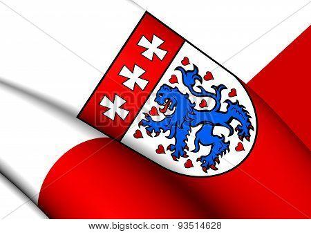 Flag Of Uelzen Landkreis, Germany.
