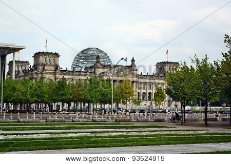 View Of The Bundestag (reichstag) In Berlin
