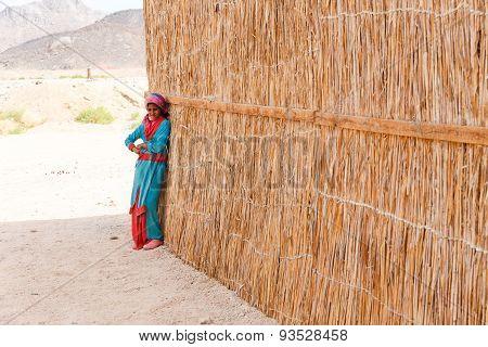Unidentified Bedouin Girl In The Village