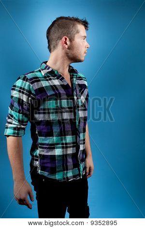 Man In Blue Flannel